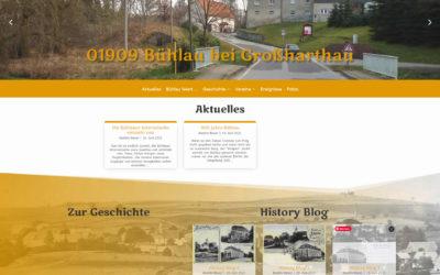 Die Bühlauer Internetseite entsteht neu