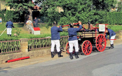 Historische Feuerwehrübung