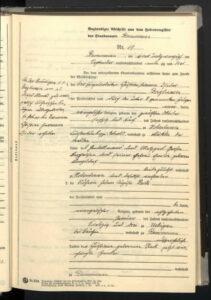 Heiratsurkunde von 1893 für Helene Auguste und Hermann Christian Isidor Berghausen - 1