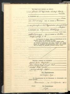Heiratsurkunde von 1893 für Helene Auguste und Hermann Christian Isidor Berghausen - 2